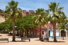 Silves, die alte Stadt in der Algarve mit seiner mittelalterlichen Burg.
